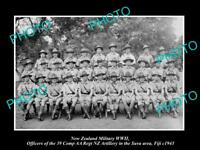 OLD HISTORIC PHOTO NEW ZEALAND MILITARY WWII NZ REGIMENT OFFICERS FIJI c1943