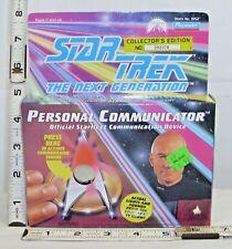 STAR TREK NEXT GENERATION PERSONAL COMMUNITCATOR BOXED PLAYMATES SEALED WORKS