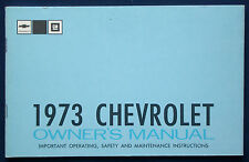 Owner's Manual * Betriebsanleitung 1973 Chevrolet Caprice * Impala (USA)