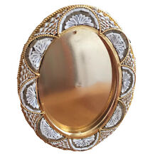 Vintage Oval Micro Mosaic Frame Italy Gold Taupe White