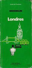 GUIDE VERT MICHELIN - LONDRES 1983