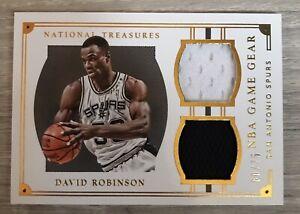 David Robinson 2015-16 Panini National Treasures NBA Game Gear Duals /75 SPURS