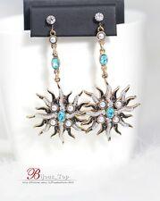 Boucles d'Oreilles Clips Mini Perle Soleil Feu Bleu Vintage Baroque Class XX 8