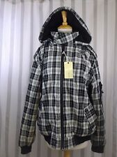 Ninety Six North Coat X Large Black White Plaid NWT Unisex