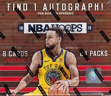 2018-19 Hoops Basketball sealed retail box 24 packs of 8 NBA cards 1 auto
