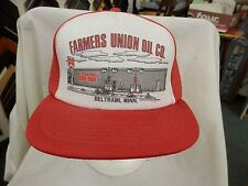 trucker hat baseball cap Farmers Union Oil Co. Stylish Retro style snapback