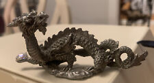 Beautiful Detailed Pewter Figurine Dragon With Crystal Ball, Selangor(?) 3.5�