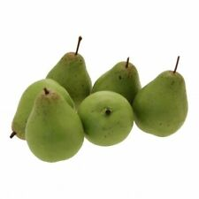 Artificial Fruit - 6 Pack of Green Pears - Artificial Fruit Display