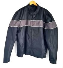 Leather Gallery Motocycle Biker Jacket Mens XL Removable Lining Nylon Waterproof