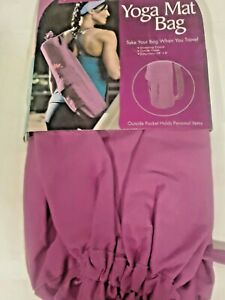 "Yoga Mat Bag New Lotus Pink 28"" x 6""  Travel Exercise Carry Gym bag NWT women"