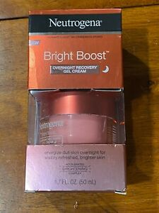 Neutrogena Bright Boost Overnight Night Recovery Gel Cream 1.7 Oz New