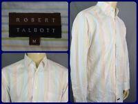 Robert Talbott Colorful Woven Striped Modern Luxury Dress Shirt Mens Medium