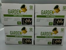 4pack Garden Party Mini Lights 50 Clear Lights, Green Wire [Ebk9-Lt50]