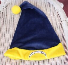 Vtg Blue Yellow San Diego Chargers Sprint Santa Claus Hat Christmas Holiday