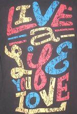 Live Your Life Medium Gray T-Shirt ( M Independent Art Artist Rebel Revolution )