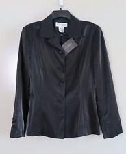 NWT St. John Collection Birch Black Wool Blend Dress Blazer Size 2 MSRP $425