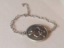 Sheela Na Gig DR96  Made From English Pewter on a Anklet / Bracelet