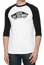 VANS OTW Old School Raglan Sleeve T-shirt Black White L