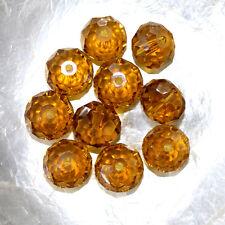 10 CITROUILLES  -  Cristal de Bohême  -  8 X 10 MM  -  JAUNE TOPAZ
