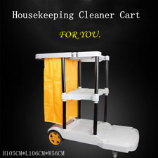 More details for janitorial houseworking cart cleaning trolley hotel office clean with large bag