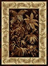 "Black Floral Leaves Area Rug United Weavers 550-30270 - Aprx 7' 10"" x 10' 6"""