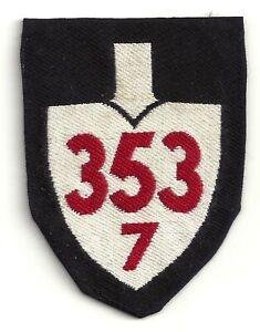 PATCH BADGE GERMAN REICHSARBEITSDIENST ABTEILUNGEN 7/353 POLTEN / WAIDHOFEN