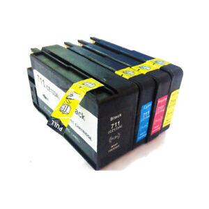 1 set each Color HP711XL 711XL Inks Compatible for HP DESIGNJET T120 T520