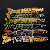 Good Jointed Fishing Bait Lure Swimbait Bass Pike Life Like Minnow Musky NT