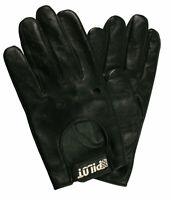 Leather Lambs Skin Chauffeur Mens Driving Gloves Sports Car Gloves Classic Retro