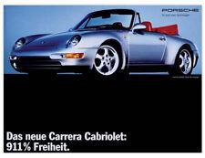 "RARE!!! Porsche Reprint of 993 Advertising Poster Print Ad- ""911% Freedom"""
