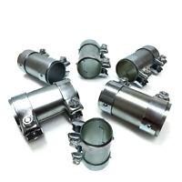 6 St Rohrverbinder Doppelschelle Auspuff Abgasanlage Länge 125 mm+ Montagecement