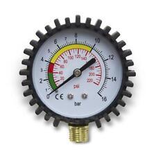 """Hydraulik Druckluftmesser Manometer 75mm senkrecht 1/4"""" Anschluss - 0 bis16 bar"""