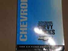 1994 CHEVROLET C/K C K PICKUP TRUCKS OWNERS MANUAL