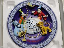 """Walt Disney 3-D collectible plate """"A magical Time in a Magical Place""""  25th MIB"""