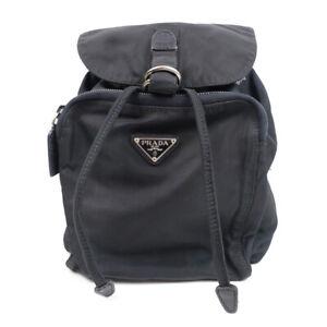 LOUIS VUITTON Nylon Black Backpack