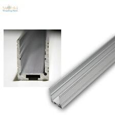 1m Aluminium-U-Profil eloxiert hoch für LED-Stripes Aluprofil, Aluminiumprofil