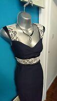 Vesper dress 14 16 bodycon wedding navy evening midi lace prom gown bandage 06