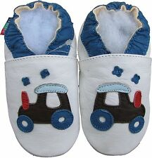 shoeszoo golf car white 0-6m S soft sole leather infant baby shoes