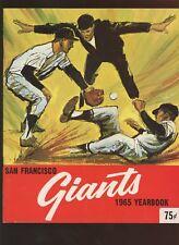 1965 MLB Baseball San Francisco Giants Yearbook NRMT