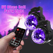 2x UV Discokugel Schwarzlicht LED Home Party Lichteffekt Bühnenlicht Xmas Show