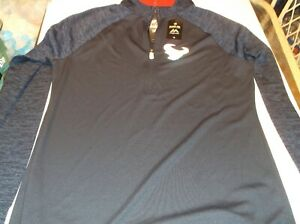 Houston Texans Womens  NFL Team Apparel 1/4 zip coolbase shirt by Majestic M