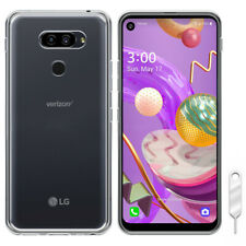 For Spectrum Mobile LG Q70 LM-Q620QM Phone Flexible Silicone Gel Clear Soft Case