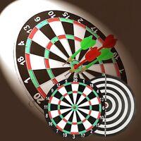 "12"" Inch Paperboard Dart Board DartBoard Game + 4PCS Flag Darts Gift New"