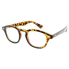 Classic Oval Frame Clear Lens Glasses Mens Celebrity Style Depp Vtg 50's Johnny Tortoiseshell