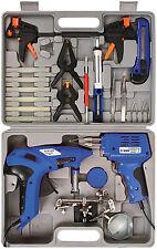 Soldering Gun Iron Electric Glue Gun Clamps Helping Hand Magnifying Glass Pump