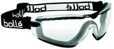 Bolle Cobra Safety Goggle with Black Strap, Clear Anti-Scratch, Anti-Fog Lens