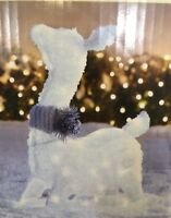 "LED Holiday Living 28"" Lighted Doe Deer White Blue Twinkling Yard Christmas NEW"