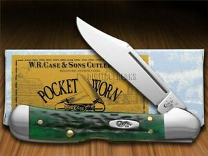 Case xx Mini Copperlock Knife Pocket Worn Jigged Bermuda Green Bone Pocket 09723