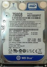 "WD Scorpio Blue 750 GB,Internal,2.5"" (WD7500KPVT) Hard Disk Manu. Recertified"