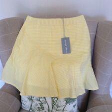 Oliver Bonas Yellow and White striped Highwaist Skirt - Size